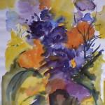 1995 Lila Blumen 44x33