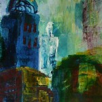 1999 Blauer Turm mit Kuppel 60x80
