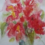 2002 Rote Blüten 50x64