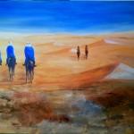 2017 Ritt in der Wüste 70x100